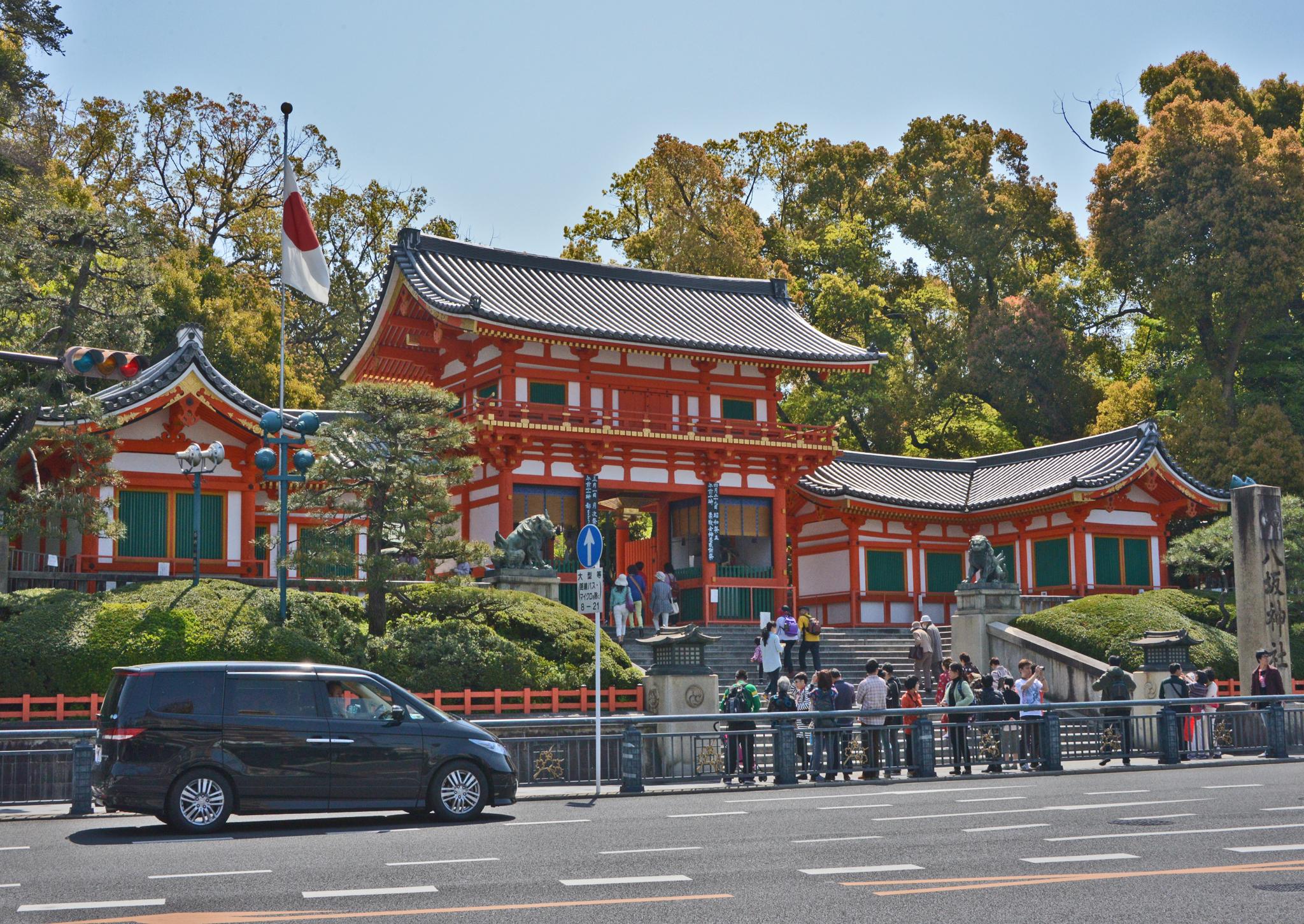 ⇑ 祇園祭りの八坂神社